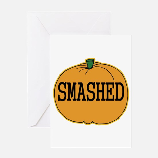 Smashed Pumpkin Greeting Card
