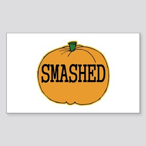 Smashed Pumpkin Rectangle Sticker