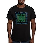 Sanibel Sea Turtle - Men's Fitted T-Shirt (dark)