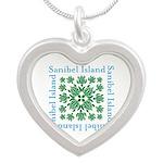 Sanibel Sea Turtle - Silver Heart Necklace