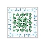 Sanibel Sea Turtle - Square Sticker 3