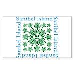 Sanibel Sea Turtle - Sticker (Rectangle)