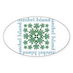 Sanibel Sea Turtle - Sticker (Oval 10 pk)