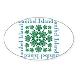 Sanibel Sea Turtle - Sticker (Oval 50 pk)