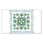 Sanibel Sea Turtle - Sticker (Rectangle 50 pk)