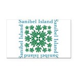 Sanibel Sea Turtle - Rectangle Car Magnet