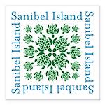 Sanibel Sea Turtle - Square Car Magnet 3