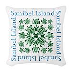 Sanibel Sea Turtle - Woven Throw Pillow