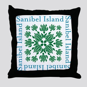 Sanibel Sea Turtle - Throw Pillow