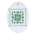 Sanibel Sea Turtle - Oval Ornament