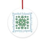 Sanibel Sea Turtle - Round Ornament