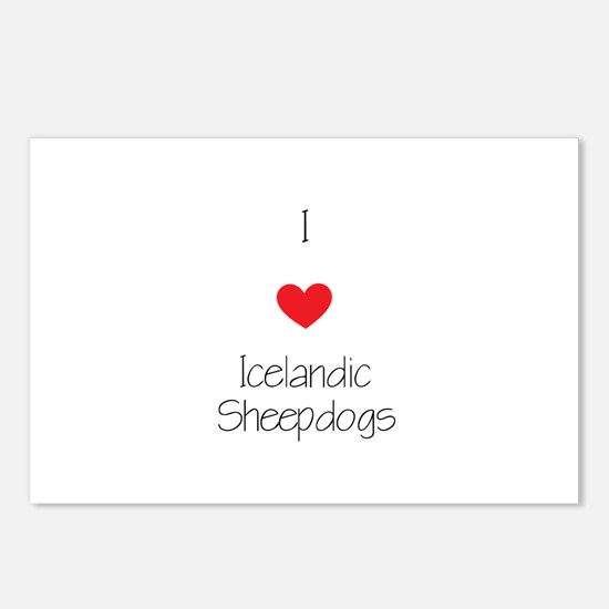 I love Icelandic Sheepdog Postcards (Package of 8)