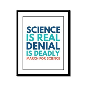 Science Is Real Framed Panel Print