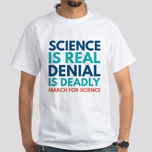 Science Is Real White T-Shirt
