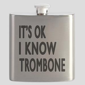 It Is Ok I Know Trombone Flask