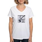 I'm a good listener Women's V-Neck T-Shirt