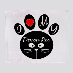 I love my Devon Rex Throw Blanket
