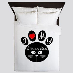 I love my Devon Rex Queen Duvet