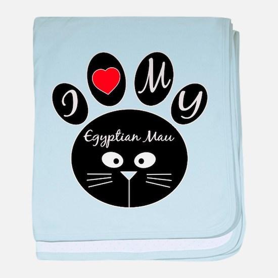 I love my Egyptian Mau baby blanket