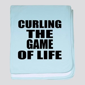 Curling The Game Of Life baby blanket