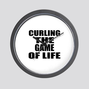 Curling The Game Of Life Wall Clock
