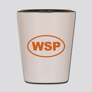 WSP Orange Euro Oval Shot Glass