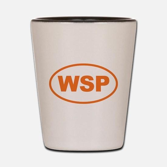WSP Orange Euro Oval Shot Glass