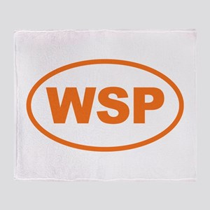 WSP Orange Euro Oval Throw Blanket