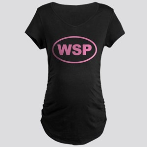 WSP Pink Euro Oval Maternity Dark T-Shirt