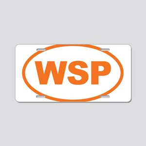 WSP Orange Euro Oval Aluminum License Plate