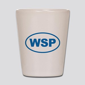 WSP Blue Euro Oval Shot Glass