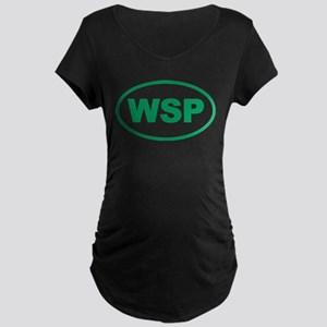 WSP Green Euro Oval Maternity Dark T-Shirt