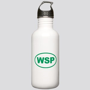 WSP Green Euro Oval Stainless Water Bottle 1.0L