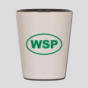 WSP Green Euro Oval Shot Glass