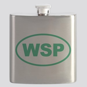 WSP Green Euro Oval Flask