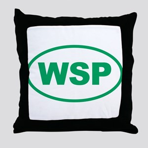 WSP Green Euro Oval Throw Pillow