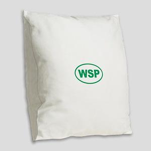 WSP Green Euro Oval Burlap Throw Pillow