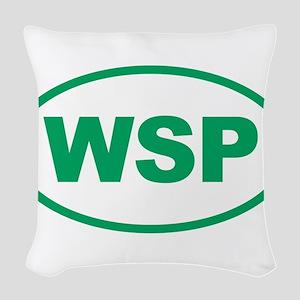 WSP Green Euro Oval Woven Throw Pillow
