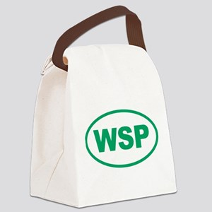 WSP Green Euro Oval Canvas Lunch Bag