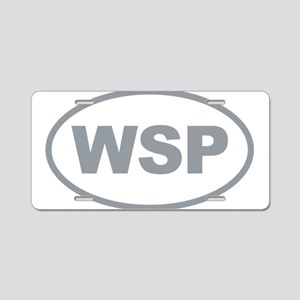 WSP Gary Euro Oval Aluminum License Plate