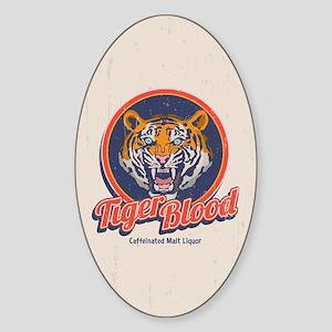 Tiger Blood Sticker (Oval)