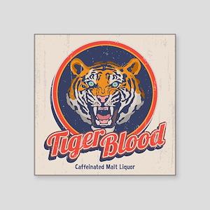 "Tiger Blood Square Sticker 3"" x 3"""