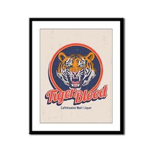 Tiger Blood Framed Panel Print