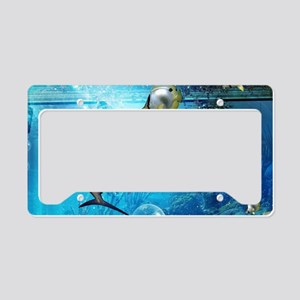 Awesome underwater world License Plate Holder