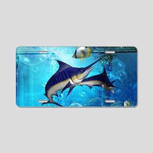 Awesome underwater world Aluminum License Plate