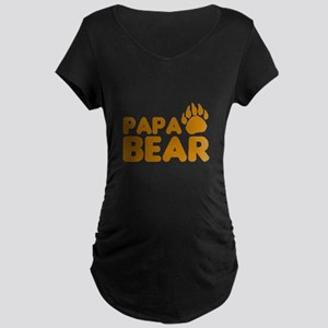 Papa Bear Maternity Dark T-Shirt