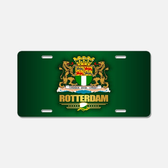 Rotterdam Aluminum License Plate
