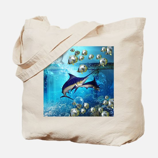 Awesome underwater world Tote Bag