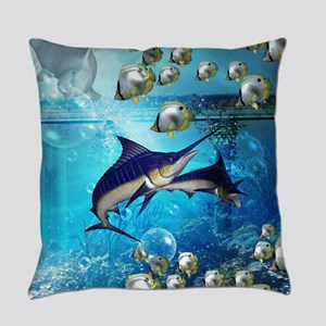Awesome underwater world Everyday Pillow
