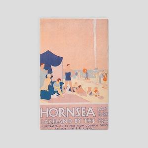 Hornsea, England; Vintage Travel Poster Area Rug
